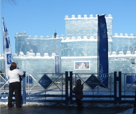Ice Castle in Quebec City, all part of the winter carnival.