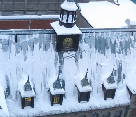 Section of Chateau Frontenac Roofline in Quebec City