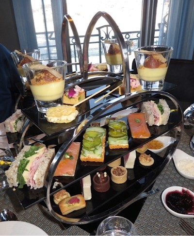 Four PM Tea Food Tray at Chateau Frontenac