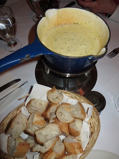 Cheese Fondue in Quebec City